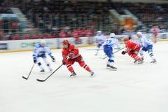 29/10/2014 partido entre los clubs del hockey Fotografía de archivo libre de regalías