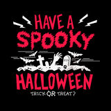 Partido fantasmagórico de Halloween Imagen de archivo