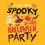 Partido fantasmagórico de Halloween Fotos de archivo libres de regalías