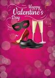 Partido feliz del día de tarjetas del día de San Valentín Imagen de archivo libre de regalías
