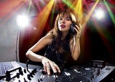 Partido femenino DJ Fotos de archivo libres de regalías