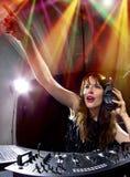 Partido femenino DJ Imagenes de archivo