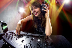 Partido femenino DJ Imagen de archivo