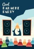 Partido fresco del Karaoke ilustración del vector