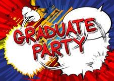 Partido graduado - palavras do estilo da banda desenhada ilustração do vetor