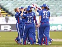 Partido internacional del grillo del T20 de las mujeres de Inglaterra v las Antillas Foto de archivo