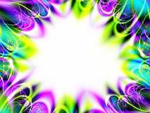 Partido-Invitación del fractal Imagen de archivo