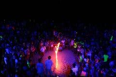 Partido Koh Phangan de la Luna Llena Foto de archivo libre de regalías