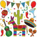 Partido mexicano de la fiesta Foto de archivo libre de regalías