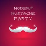 Partido moderno del bigote Fotos de archivo