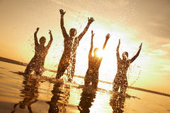 Partido na praia Fotos de Stock Royalty Free