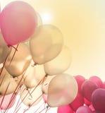 Partido o celebración de los globos Foto de archivo libre de regalías