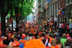 Partido para el equipo de fútbol holandés Imagen de archivo