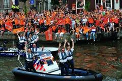 Partido para el equipo de fútbol holandés Fotos de archivo