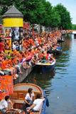 Partido para el equipo de fútbol holandés Fotos de archivo libres de regalías