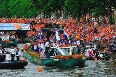 Partido para a equipa de futebol holandesa Imagens de Stock