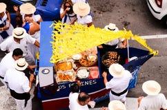 Partido típico da festa de Romeria Imagem de Stock