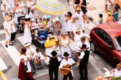 Partido típico de la fiesta de Romeria Fotos de archivo