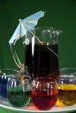 Partido-tempo - bebidas coloridas Imagens de Stock