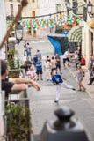 Partido tradicional de la pelota vasca Imagen de archivo libre de regalías