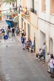 Partido tradicional de la pelota vasca Fotos de archivo