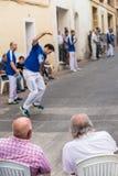Partido tradicional de la pelota vasca Imagenes de archivo