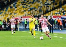 Partido Ucrania - Croacia del mundial 2018 de la FIFA Imágenes de archivo libres de regalías