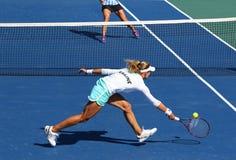 Partido Ucrania del tenis de FedCup contra la Argentina Imagen de archivo