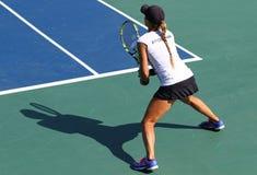 Partido Ucrania del tenis de FedCup contra la Argentina Foto de archivo libre de regalías