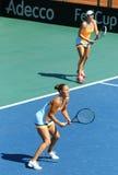 Partido Ucrania del tenis de FedCup contra la Argentina Imagenes de archivo