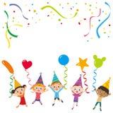 Partido y niños Imagen de archivo libre de regalías