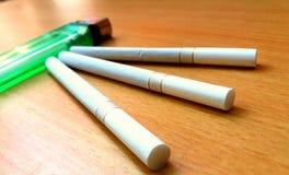 Partidos de los cigarrillos fotos de archivo