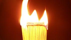 Partidos del burning de la llama almacen de metraje de vídeo