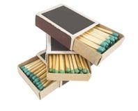 Partidos en caja fotos de archivo