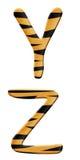 Partie 7 d'alphabet de tigre Photo libre de droits