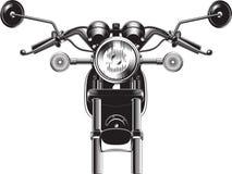 Partie antérieure de moto de couperet Image stock