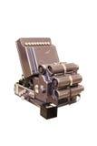 Partie arrière de balayeur optique antique avec le galvanomètre Images stock