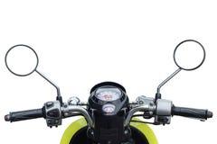 Partie avant de vue moderne de moto de cavalier image libre de droits