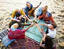 Partie célébrant le concept d'unité d'amitié de célébration Photos stock