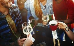Partie célébrant le concept d'unité d'amitié de célébration Photo libre de droits