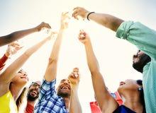Partie célébrant le concept d'unité d'amitié de célébration Image stock