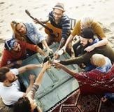Partie célébrant le concept d'unité d'amitié de célébration Photographie stock