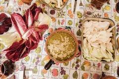 Partie caudale de Bagna Plat italien de cuisine Piedmontese Photographie stock libre de droits
