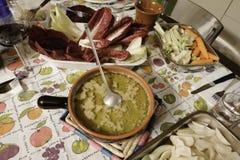 Partie caudale de Bagna Plat italien de cuisine Piedmontese Photo libre de droits