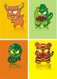 Partie chinoise d'horoscope Photos libres de droits