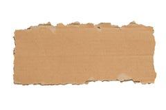 Partie déchirée blanc mince de XXXL d'isolement par carton Photo libre de droits