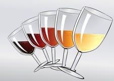 Partie d'échantillon de vin Image stock
