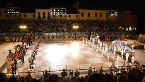 Partie d'échecs dans Marostica Image libre de droits