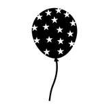 Partie d'air de ballon des Etats-Unis Images stock