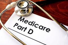Partie D d'Assurance-maladie photo libre de droits